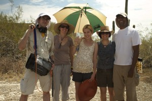 (L-R) Mike Grey, Lisa Robinson, Anna Margaret Hollyman, Annie J Howell, Charles Swanson (Director of Photography)